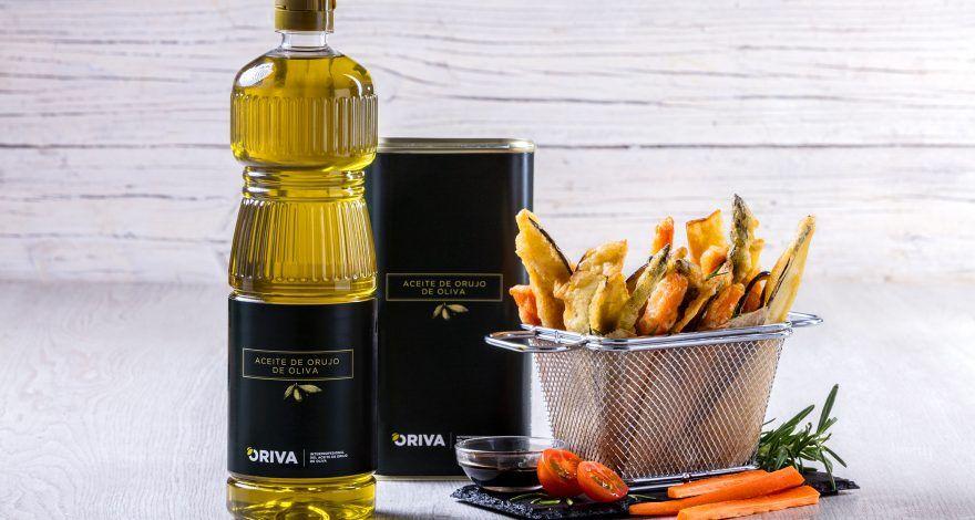 Tempura realizada con aceite de orujo de oliva