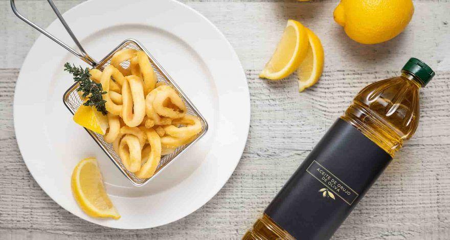 Fritura con aceite de orujo de oliva
