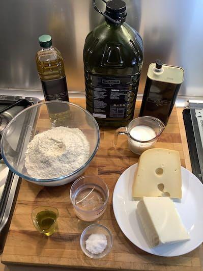 Ingredientes para cocinar tequeños