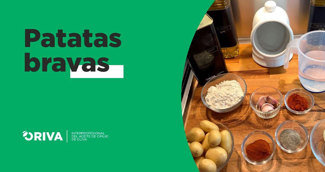 Receta de patatas bravas con salsa casera y Aceite de Orujo de Oliva